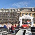 Aurora Straus dans une Porsche 356 - Départ de la 20ème édition du Rallye des Princesses Richard Mille sur la place Vendôme à Paris, France, le 1er juin 2019. © Giancarlo Gorassini/Bestimage