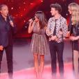 """Jenifer en robe YSL lors de la demi-finale de """"The Voice 8"""", samedi 1er juin 2019 sur TF1."""