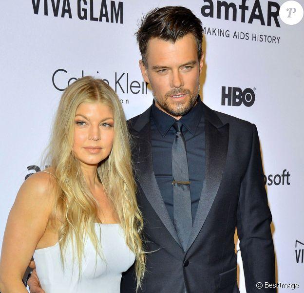 Josh Duhamel et sa femme Fergie - People au gala de l'amfAR à l'hôtel Plaza à New York. Le 10 juin 2014.