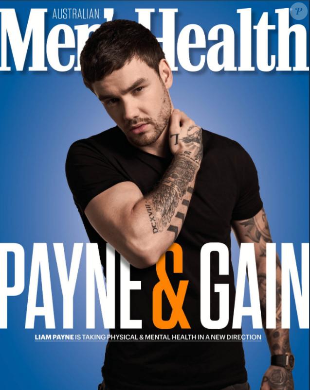 Liam Payne en couverture de Men's Health, juin 2019