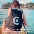 Camille Cerf en train de pagayer à Maurice, le 5 juin 2019.