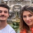Camille Cerf et son petit ami Cyrille à Rome - Instagram, 11 mai 2019