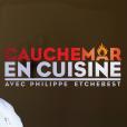 """Logo de l'émission """"Cauchemar en cuisine"""" avec Philippe Etchebest."""
