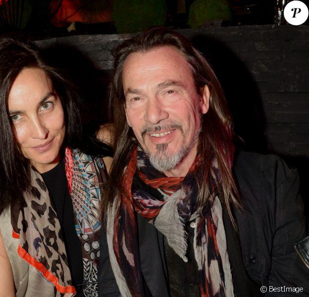 Florent Pagny et sa femme Azucena - Inauguration de la discothèque L'Arc à Paris le 2 octobre 2014 suite à sa réouverture au 12 Rue de Presbourg.