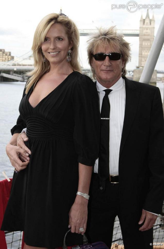 Rod Stewart et Penny Lancaster à Londres, le 20 juin 2009