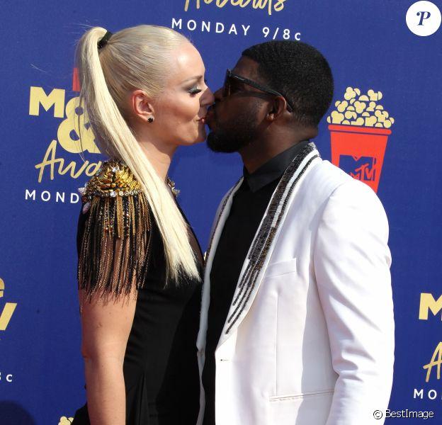 Lindsey Vonn et son compagnon PK Subban assistent aux MTV Movie and TV Awards à Los Angeles le 15 juin 2019.