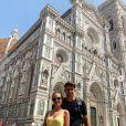 Enzo Zidane et sa chérie Karen Gonçalves, en vacances à Florence. Instagram, juin 2019
