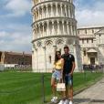 Enzo Zidane et sa chérie Karen Gonçalves en escapade à Pise. Instagram, juin 2019
