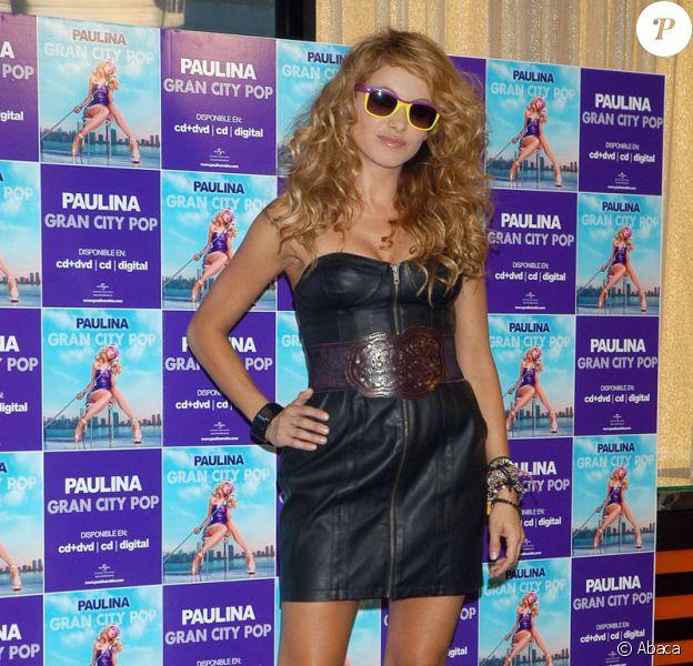 Paulina Rubio lors de la promotion de son nouvel album Gran City Pop le 22 juin 2009 à Madrid