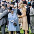 La reine Elizabeth II d'Angleterre, Kate Middleton, duchesse de Cambridge, le prince William, le roi Willem-Alexander des Pays-Bas et la reine Maxima des Pays-Bas au Royal Ascot le 18 juin 2019.