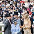 La reine Elisabeth II d'Angleterre, Catherine (Kate) Middleton, duchesse de Cambridge, le prince William, duc de Cambridge, le roi Willem-Alexander des Pays-Bas, la reine Maxima des Pays-Bas et le prince Charles, prince de Galles - La famille royale britannique et les souverains néerlandais lors de la première journée des courses d'Ascot 2019, à Ascot, Royaume Uni, le 18 juin 2019.  Royal family attend the Royal Ascot Horse Races 2019, in Ascot, UK, on June 18, 2019.18/06/2019 - Ascot