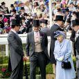 La reine Elisabeth II d'Angleterre, Catherine (Kate) Middleton, duchesse de Cambridge, le prince William, duc de Cambridge et Camilla Parker Bowles, duchesse de Cornouailles - La famille royale britannique et les souverains néerlandais lors de la première journée des courses d'Ascot 2019, à Ascot, Royaume Uni, le 18 juin 2019.  Royal family attend the Royal Ascot Horse Races 2019, in Ascot, UK, on June 18, 2019.18/06/2019 - Ascot