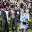 La reine Elisabeth II d'Angleterre, Catherine (Kate) Middleton, duchesse de Cambridge, le prince William, duc de Cambridge, le roi Willem-Alexander des Pays-Bas, la reine Maxima des Pays-Bas - La famille royale britannique et les souverains néerlandais lors de la première journée des courses d'Ascot 2019, à Ascot, Royaume Uni, le 18 juin 2019.  Royal family attend the Royal Ascot Horse Races 2019, in Ascot, UK, on June 18, 2019.18/06/2019 - Ascot