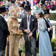 Kate Middleton, duchesse de Cambridge (robe Elie Saab), le prince William, duc de Cambridge, le roi Willem-Alexander des Pays-Bas, la reine Maxima des Pays-Bas au Royal Ascot le 18 juin 2019.