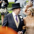 Le roi Willem-Alexander des Pays-Bas et la reine Maxima des Pays-Bas au Royal Ascot le 18 juin 2019.