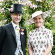 Le comte et la comtesse de Wessex à l'hippodrome d'Ascot la veille de leur anniversaire de mariage (20 ans) le 18 juin 2019.