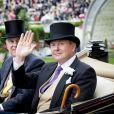 Le roi Willem-Alexander des Pays-Bas, le prince Andrew, duc d'York, au Royal Ascot le 18 juin 2019.