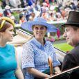 La princesse Eugenie d'York, la princesse Beatrice d'York au Royal Ascot le 18 juin 2019.