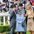 La reine Elizabeth II d'Angleterre, la reine Maxima des Pays-bas, le roi Willem Alexander au Royal Ascot le 18 juin 2019.