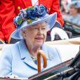La reine Elisabeth II d'Angleterre - La famille royale d'Angleterre et le couple royal des Pays-Bas sont sur l'hippodrome d'Ascot pour assister aux courses le 18 juin 2019.  Ascot,18-06-2019 Royal family attend the Royal Ascot Horse Races.18/06/2019 - Amsterdam