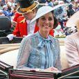 Kate Middleton, duchesse de Cambridge, et Camilla Parker Bowles, duchesse de Cornouailles, au Royal Ascot le 18 juin 2019.
