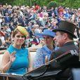 La princesse Beatrice d'York et la princesse Eugenie d'York au Royal Ascot le 18 juin 2019.
