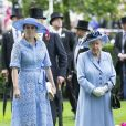 La princesse Beatrice d'York et la reine Elizabeth II d'Angleterre au Royal Ascot le 18 juin 2019.