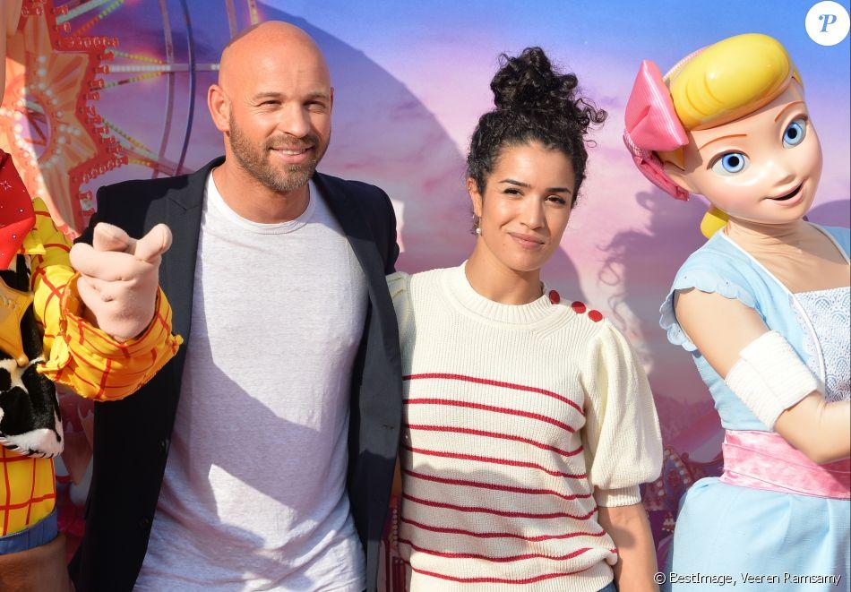"""Franck Gastambide et Sabrina Ouazani - Personnalités à la projection du film """"Toy Story 4"""" à Disneyland Paris. Le 22 juin 2019 © Veeren Ramsamy / Bestimage"""