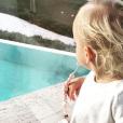La fille d'Antoine Griezmann en photo sur Instagram le 8 mars 2018.