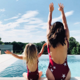 La fille (Mia) et la femme (Erika) d'Antoine Griezmann en photo sur Instagram en juin 2019.
