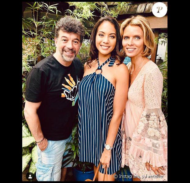 Sylvie Tellier avec Vaimalama Chaves et Stéphane Plaza - Instagram, le 22 juin 2019