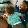 Fulgence Ouedraogo avec son fils et sa fille, Instagram, le 7 juin 2019