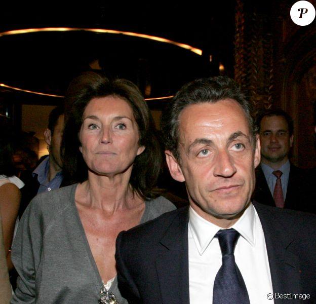 Nicolas Sarkozy et Cécilia Attias- Soirée au Fouquet's- Le 7 mai 2007