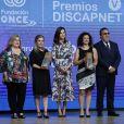"""La reine Letizia d'Espagne lors de la 5e édition des """"Discapnet Awards"""" à Madrid, le 21 juin 2019."""