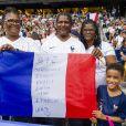 La famille de Wendie Renard dans les tribunes lors du quart de finale de la Coupe du Monde Féminine de football opposant les Etats-Unis à la France au Parc des Princes à Paris, France, le 28 juin 2019. Les USA ont gagné 2-1. © Pierre Perusseau/Bestimage