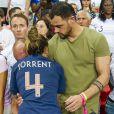 Marion Torrent et son compagnon dans les tribunes lors du quart de finale de la Coupe du Monde Féminine de football opposant les Etats-Unis à la France au Parc des Princes à Paris, France, le 28 juin 2019. Les USA ont gagné 2-1. © Pierre Perusseau/Bestimage