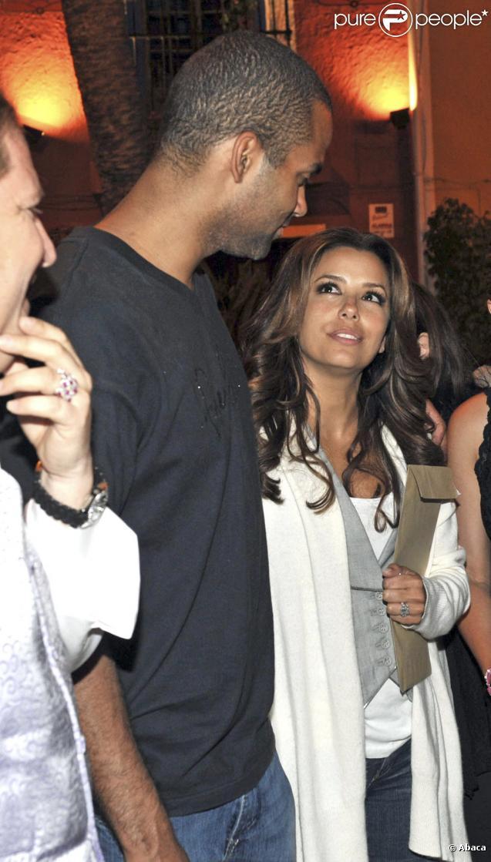 Eva Longoria et son mari Tony Parker assistent à un spectacle de flamenco, à Marbella