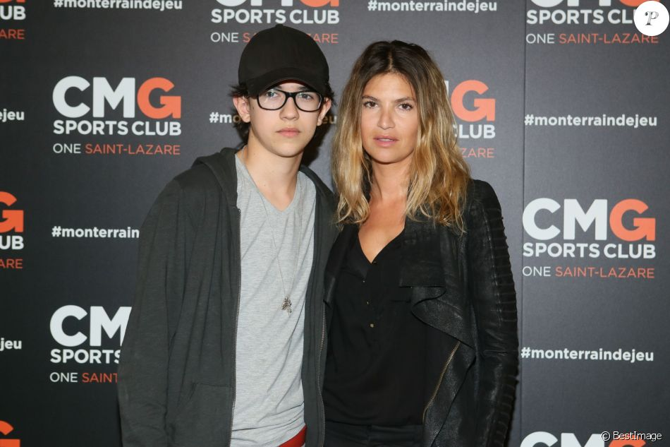 Isabelle Funaro et son fils Sean - Inauguration du CMG Sports Club ONE Saint-Lazare au 11-13 rue Boursault à Paris, le 28 avril 2016. © CVS/Bestimage