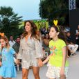 """Maria Bravo (co-fondatrice de la Fondation Global Gift) lors du défilé organisé par la fondation """"Global Gift"""" dans le cadre de la Fashion Week de Marbella, le 11 juillet 2019."""