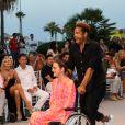 """Gary Dourdan lors du défilé organisé par la fondation """"Global Gift"""" dans le cadre de la Fashion Week de Marbella, le 11 juillet 2019."""
