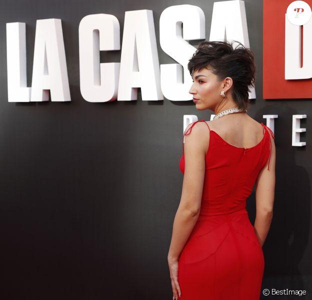 """Ursula Corberi lors de la première de """"La Casa De Papel - Saison 3"""" à Madrid, le 11 juillet 2019."""