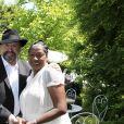 Eric Morena et Babette de Rozieres - Garden party chez Babette de Rozieres a Maule le 30 juin 2013.