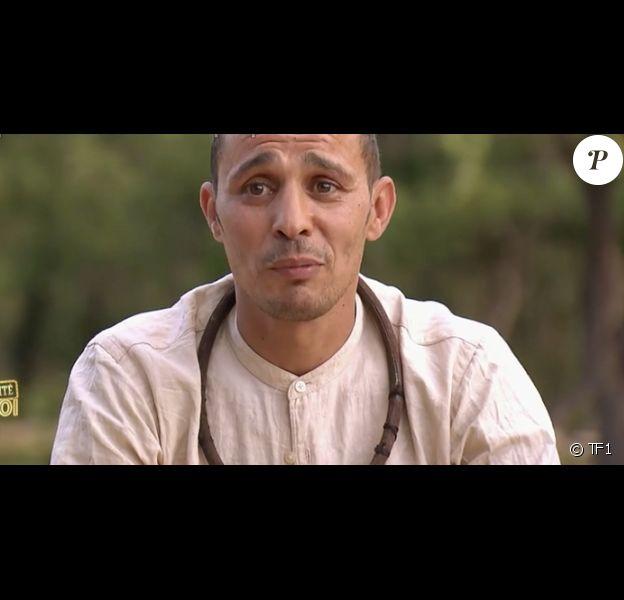 """Brahim Asloum dans """"Je suis une célébrité, sortez-moi de là"""", la 5e émission du 6 août 2019."""