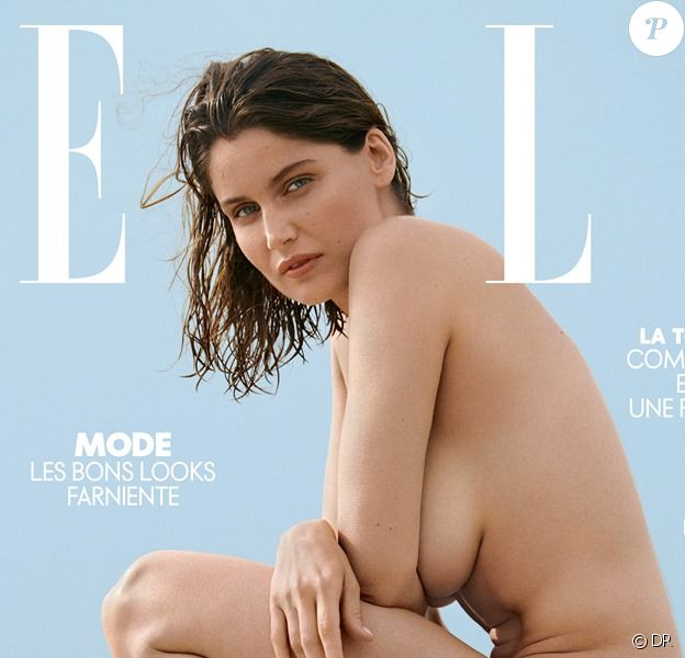 Laetitia Casta figure en couverture du magazine ELLE du 19 juillet 2019. Photo par Blair Getz Mezibov.