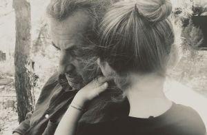 Carla Bruni-Sarkozy : Moment tendresse entre Giulia et son papa, Nicolas