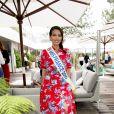 Vaimalama Chaves (Miss France 2019) dans les tribunes lors des internationaux de tennis de Roland Garros à Paris, France, le 4 juin 2019. © Jean-Baptiste Autissier/Panoramic/Bestimage