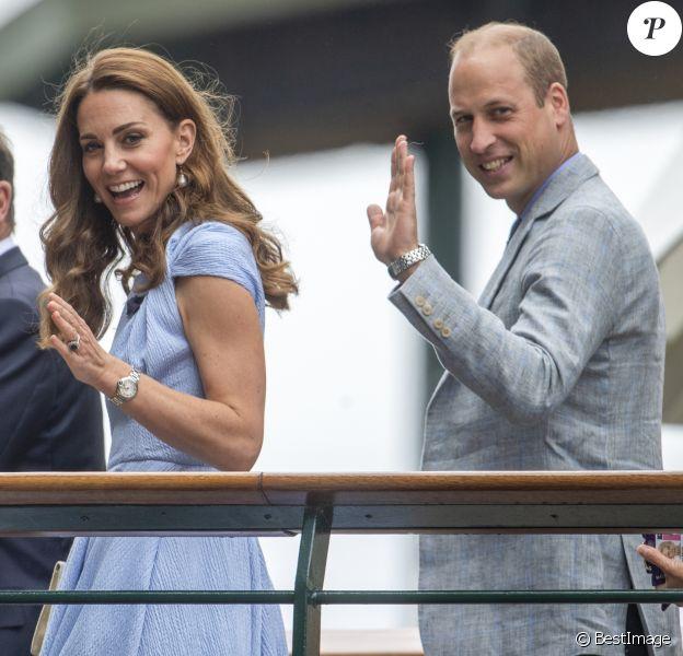 Le prince William, duc de Cambridge, et Catherine (Kate) Middleton, duchesse de Cambridge - Le tournois de Wimbledon 2019, Londres les 12, 13 et 14 juillet 2019.