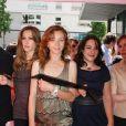 Didier Bourdon, Mathilde Seigner, Sylvie Testud, Marilou Berry et Isabelle Carré lors de l'inauguration de la Fête du cinéma à Boulogne-Billancourt en banlieue parisienne le 27 juin 2009