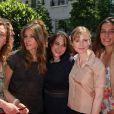 Sylvie Testud, Mathilde Seigner, Marilou Berry, Isabelle Carré et Zoé Félix lors de l'inauguration de la Fête du cinéma à Boulogne-Billancourt en banlieue parisienne le 27 juin 2009