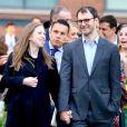 Chelsea Clinton enceinte et son mari Marc Mezvinsky - Les célébrités arrivent Spring Gala 2019 pour la fondation The Diller von Furstenberg Family à New York, le 21 mai 2019